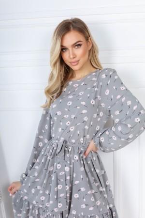 Трендова весняна сукня  AL85702 сірого кольору