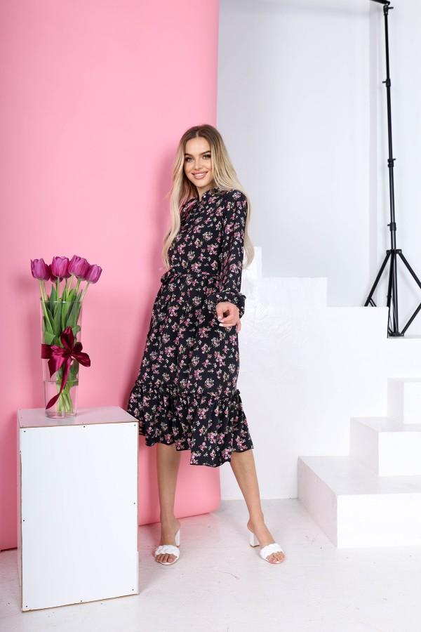 Чарівна весняна сукня  AL85602 чорне