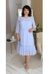 Сукня нарядна  шифонова LB218403 блакитний