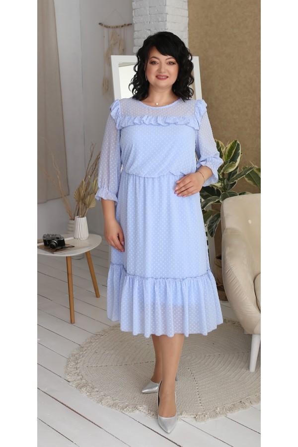 Нарядне шифонове плаття LB218403 блакитний