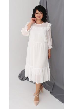 Нарядне шифонове плаття LB218402 білий