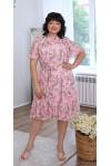 Сукня нарядна  шифонова квітковий прінт LB219703 рожевий