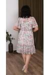 Сукня нарядна  шифонова квітковий прінт  LB219702 ліловий