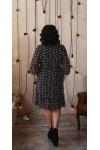 Святкове плаття великого розміру LB220402 темно-синій