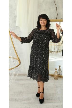 Вишукане плаття великого розміру LB221101 чорне