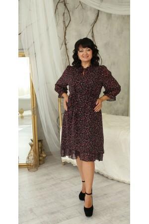 Дивовижна сукня великого розміру LB221802 бордо