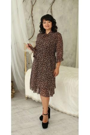 Дивовижна сукня великого розміру LB221803 капучіно