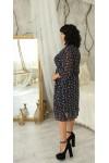 Святкове плаття великого розміру LB220401 синього кольору