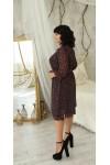 Вишукана шифонова сукня великого розміру  LB221802 бордо