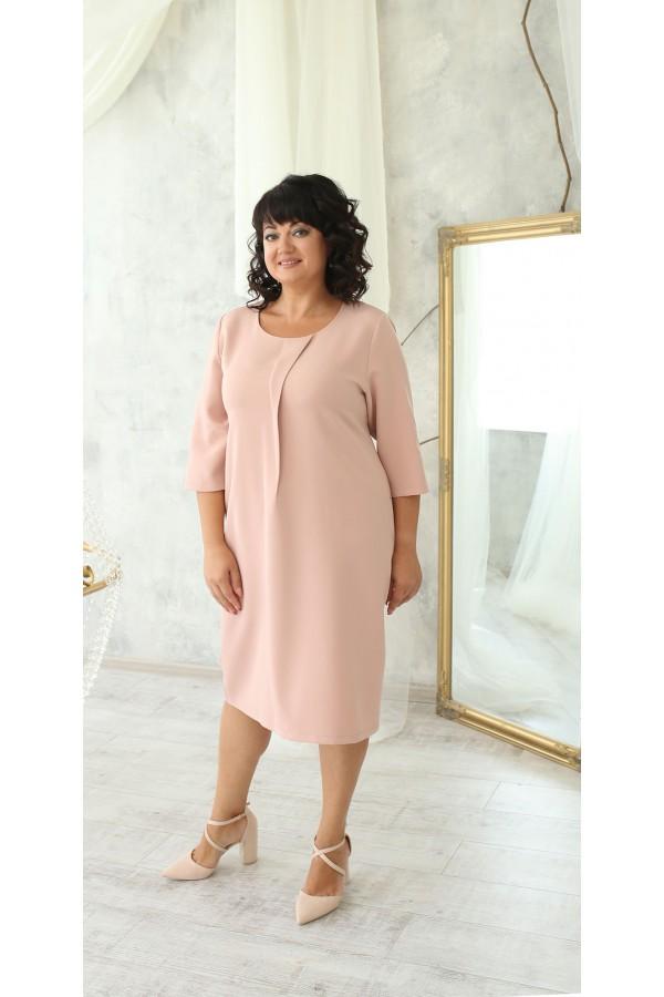 Деловая платье большого размера LB222505 пудра