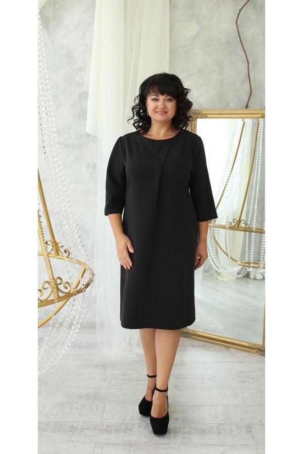 Деловая платье большого размера LB222504 черный