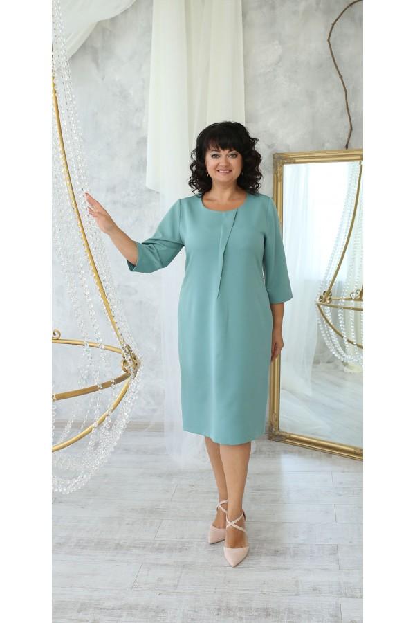 Деловая платье большого размера LB222501 бирюза