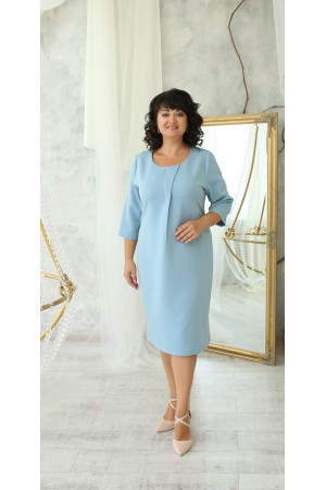 Ділова сукня великого розміру LB222502 блакитний