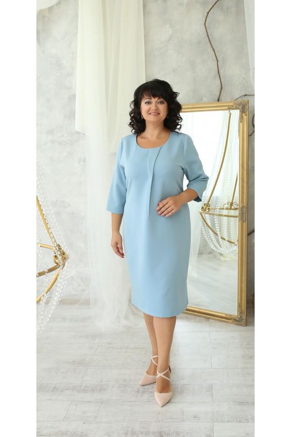 Деловая платье большого размера LB222502 голубой