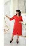 Плаття ділове сезон осінь 2021 великого розміру LB222701 червоного кольору