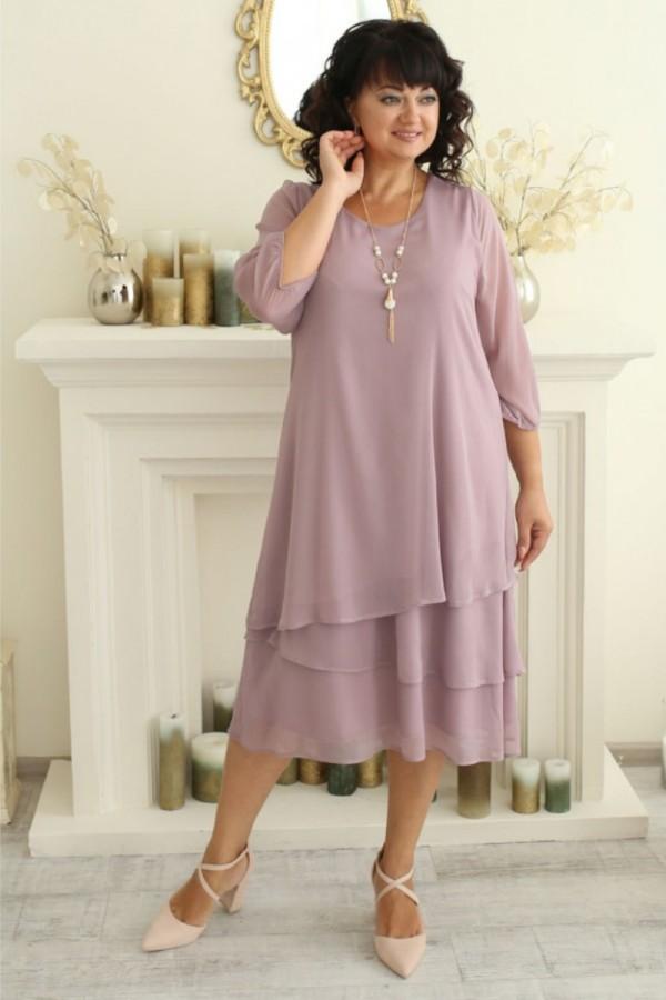 Платье нарядное сезона осень 2021 большого размера LB222902 лиловый