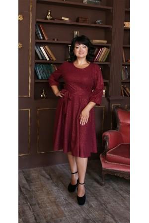 Шикарне плаття з поясом 2021 великого розміру LB221701 фуксія