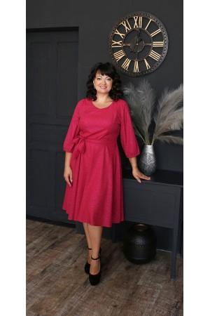 Шикарне плаття з поясом 2021 великого розміру LB221703 червоний