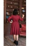 Шикарна нарядна сукня з поясом 2021 великого розміру LB221701 фуксія. Сезон осінь 2021