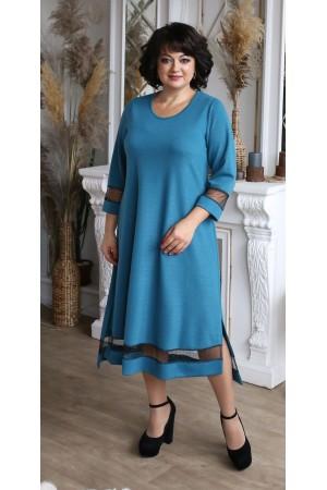 Сукня нарядна великого розміру LB209203 бірюза