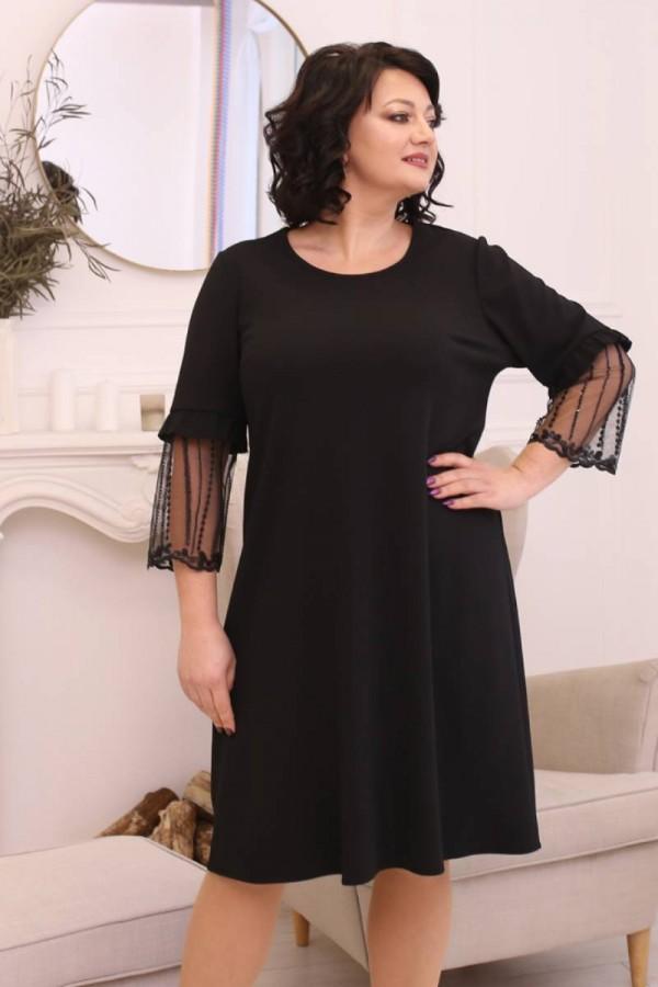 Елегантна сукня сезону осінь 2021 великого розміру LB198701 чорна