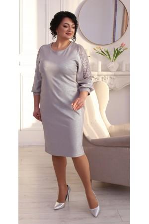 Шикарне плаття сезон осінь 2021 великого розміру LB214802 сірий