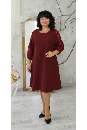 Нарядна сукня великого розміру 2021   LB223501 бордо