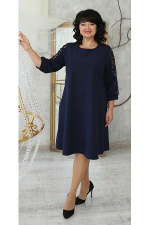 Нарядное платье большого размера 2021 LB223502 синий