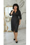 Нарядна сукня великого розміру 2021  LB224102 чорна
