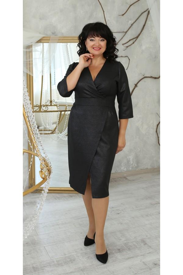 Нарядное платье большого размера 2021 LB224102 черная