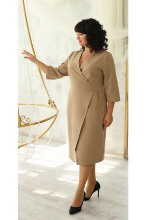 Нарядна сукня великого розміру 2021  LB224105 беж