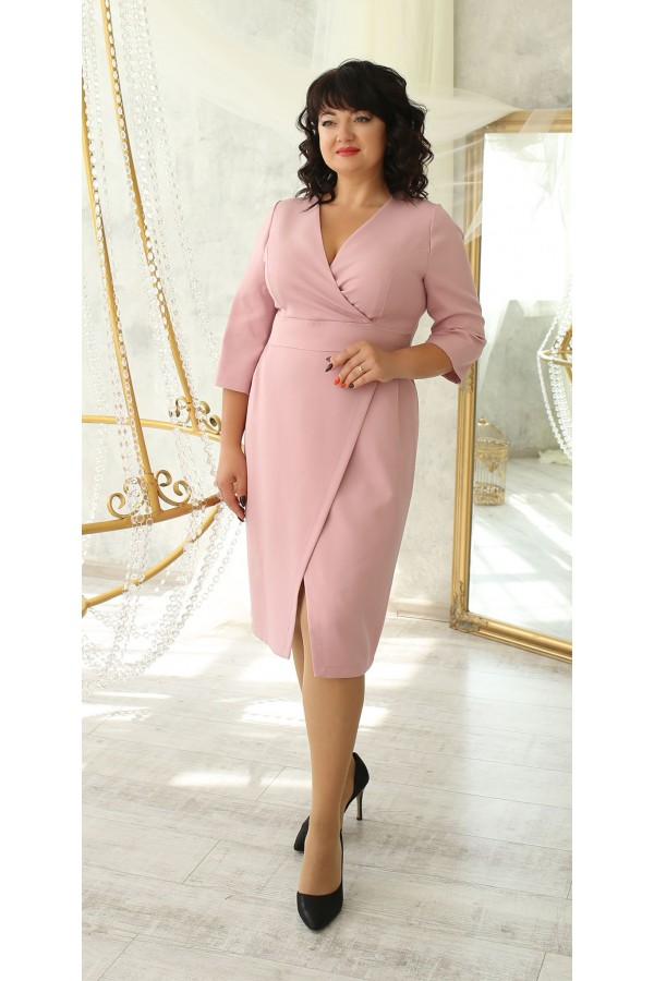 Нарядна сукня великого розміру 2021 LB224104 пудра