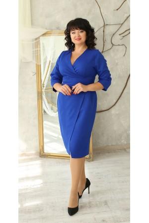 Нарядна сукня великого розміру 2021 напівприталена LB224103 електрик