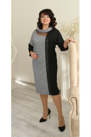 Стильне коктельне плаття великого розміру напівприталене LB224801