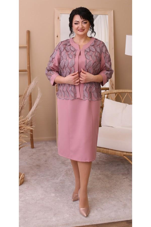 Нарядний костюм двійка LB206903 рожевий