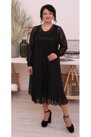 Нарядна сукня великого розміру LB214302 чорний