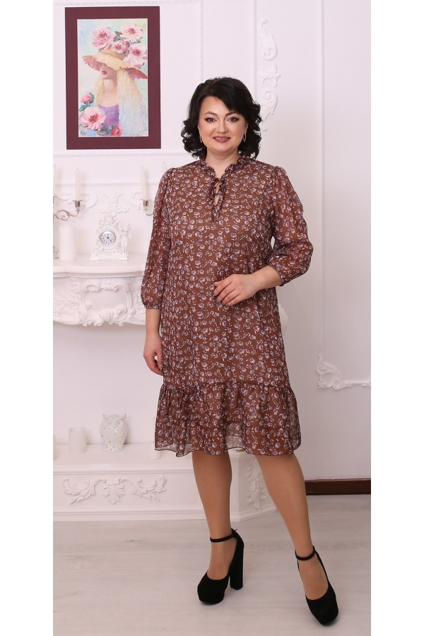 Весняна сукня LB216402 сезону 2021 капучино
