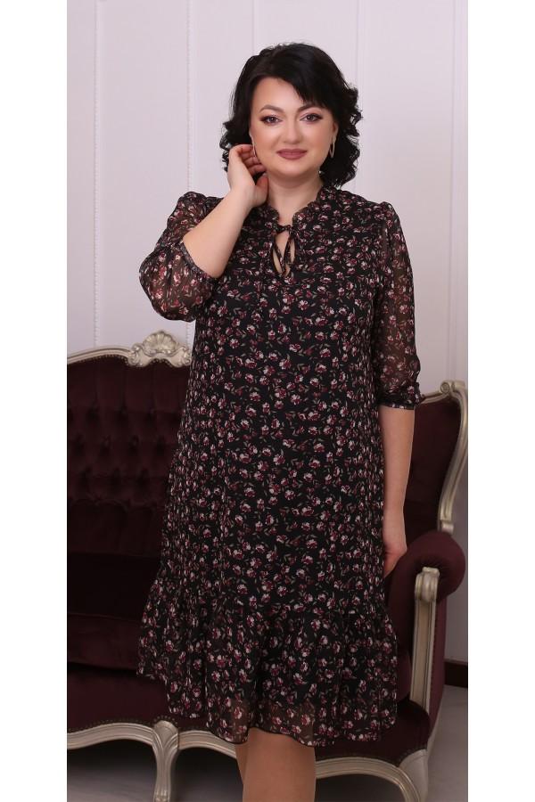 Молодіжна вільна весняна сукня LB216401