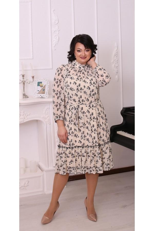 Сукня шифонова великого розміру LB216201 квіткова