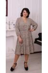 Купить платье шифоновое большого размера  LB215903 беж
