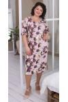 Квіткове плаття великого розміру сезону 2021 недорого LB217202 рожевий