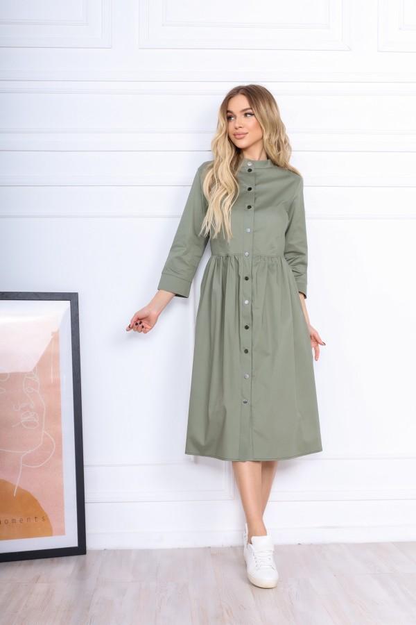 Вільна літня сукня  AL86102 сіре котон