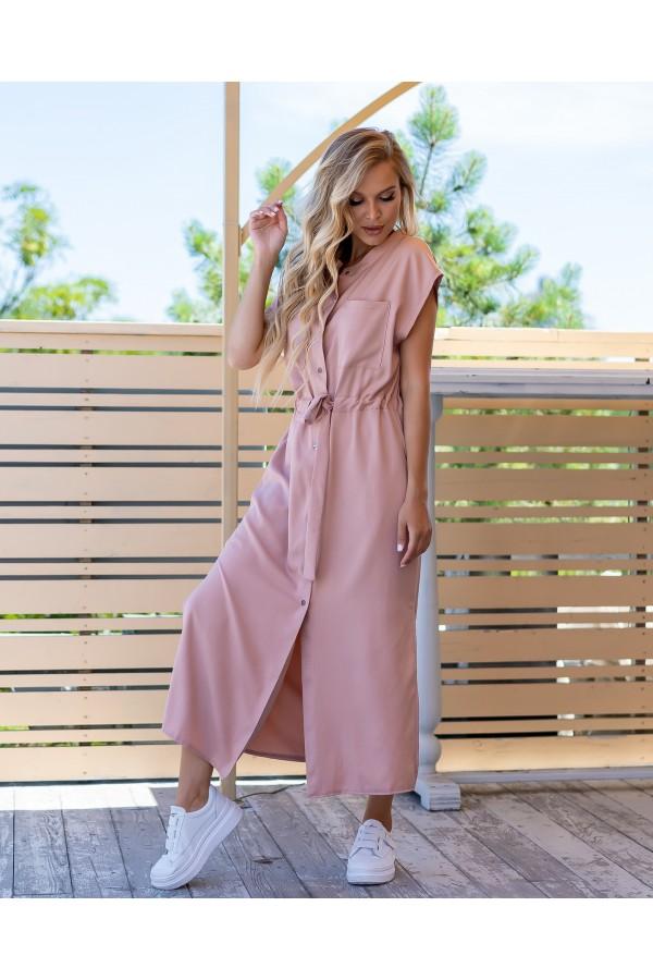 Зручна стильна сукня  AL86004 пудра