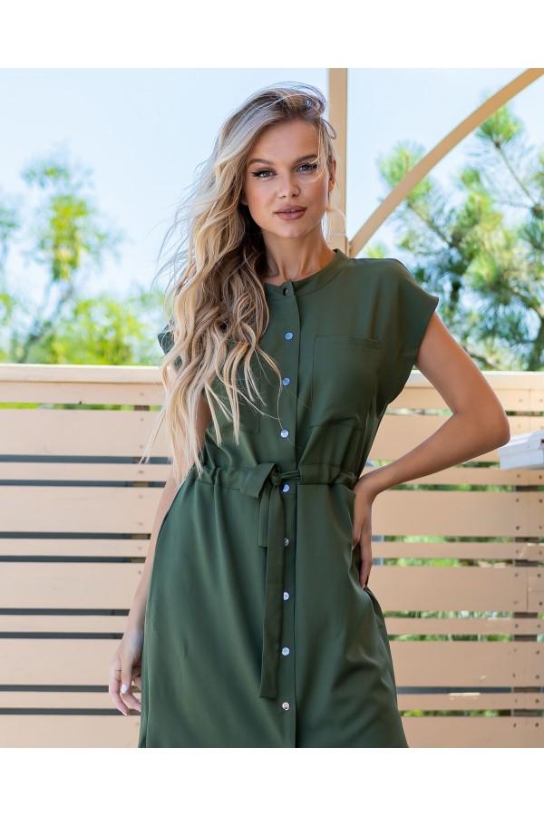 Зручна стильна сукня  AL86002 хакі