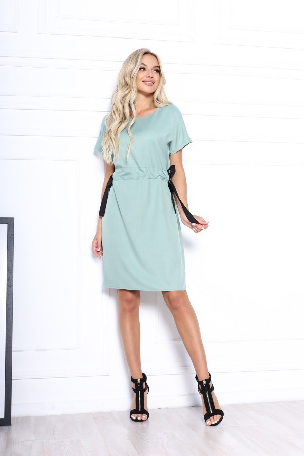 Зручна стильна сукня  AL85904 блакитне