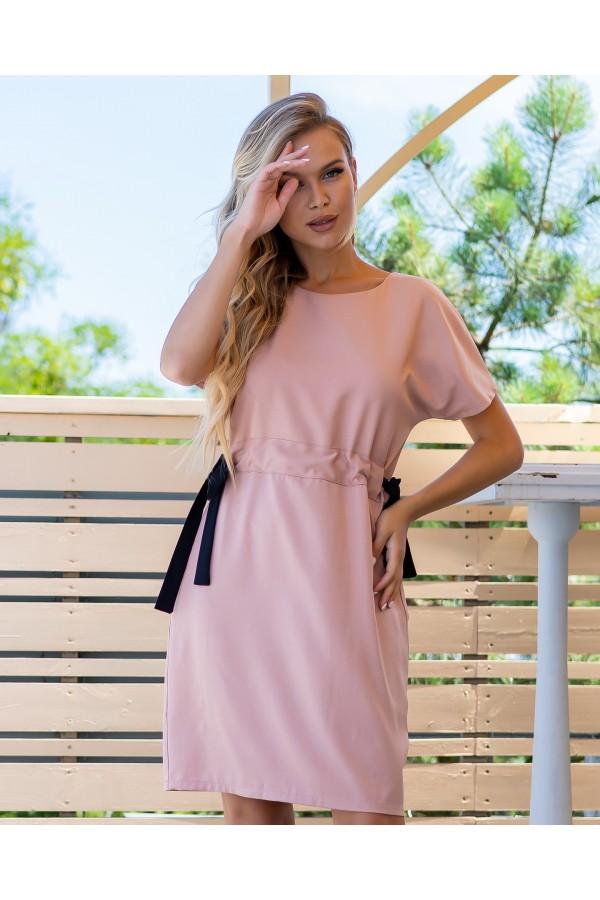 Зручна стильна сукня  AL85902 рожевий