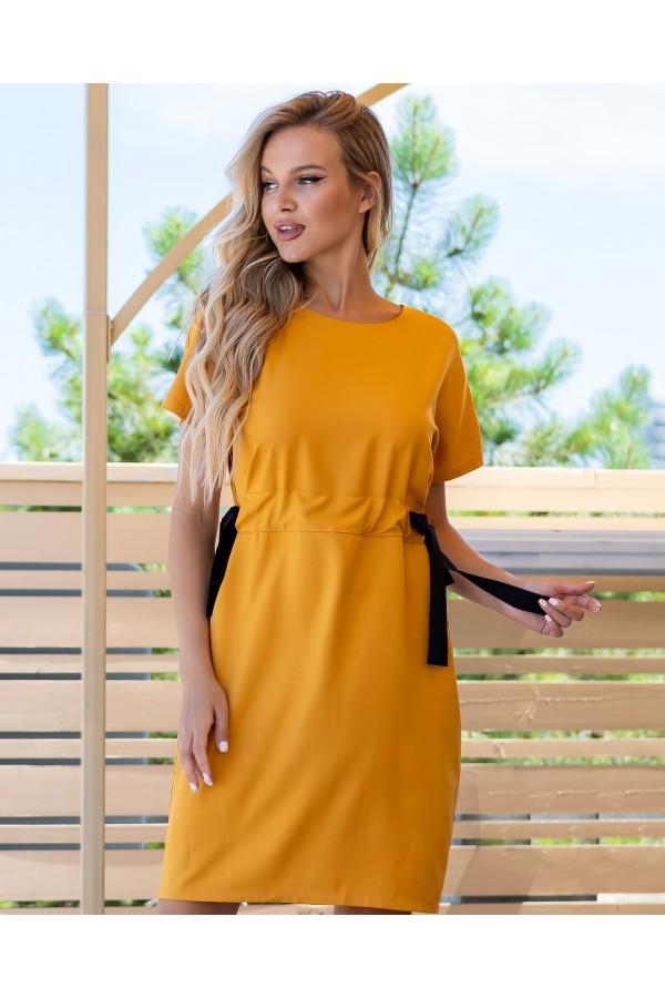 Удобная стильное платье AL85901 горчица
