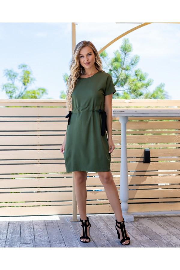 Зручна стильна сукня  AL85903 хакі