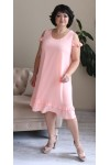 Стильна літня сукня 2021 прошва великого розміру LB185001 пудра