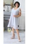 Стильна літня сукня 2021 прошва великого розміру LB185002 блакитний